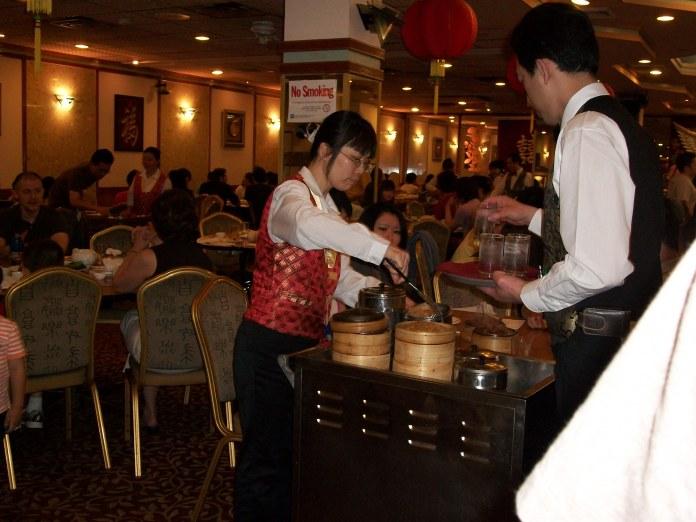 Serving at China Pearl