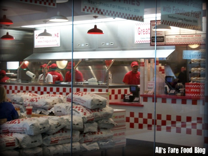 Kitchen at Five Guys