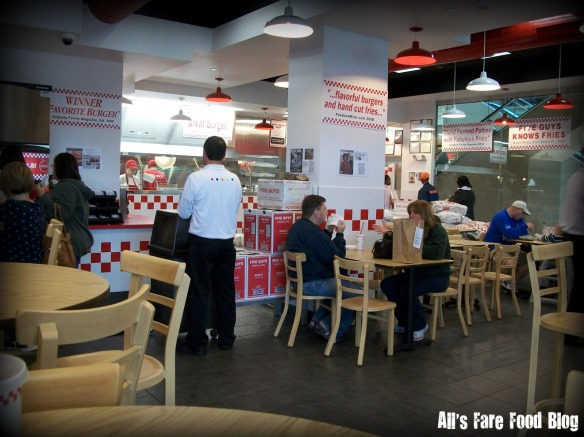 Interior of Five Guys at Mayfair