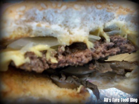 My burger at Five Guys