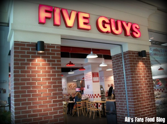 Five Guys entrance at Mayfair Mall