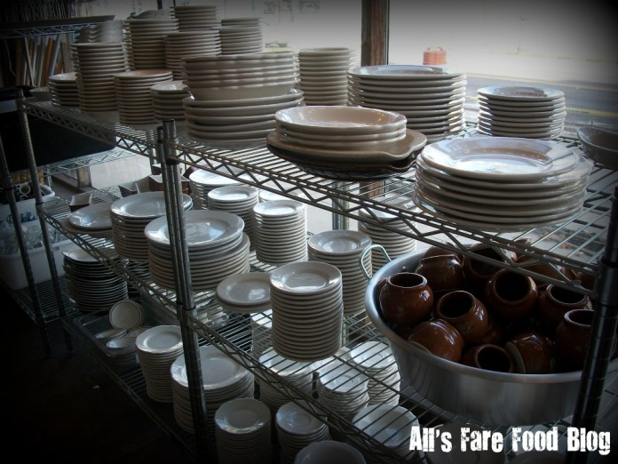 Plates and servingware at Fein Brothers