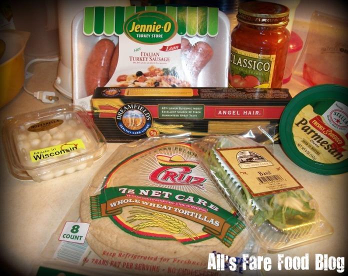 Spaghetti taco ingredients