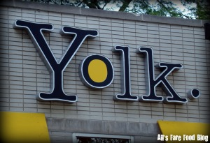 Yolk - Downtown Chicago sign