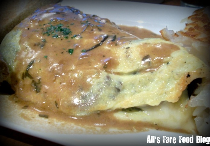 Roast mushroom omelet at Blue's Egg