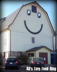 The smiley barn at Elegant Farmer in Mukwonago, Wis.
