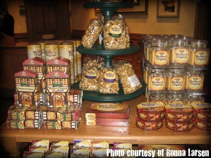 Popcorn display at Karamell-Kuche.