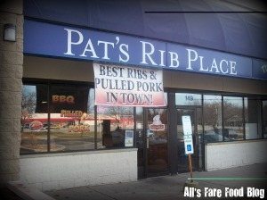 Exterior of Pat's Rib Place in Waukesha
