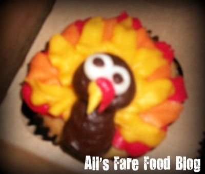 Happy Thanksgiving! Turkey cupcake from Milwaukee Cupcake Co.