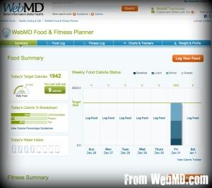 Web MD Food & Fitness Tracker