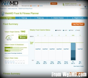 Web MD Food & Fitness Tracker