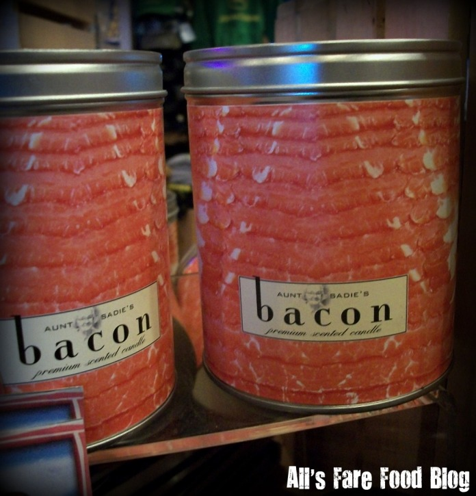 Bacon candles at Machine Shed