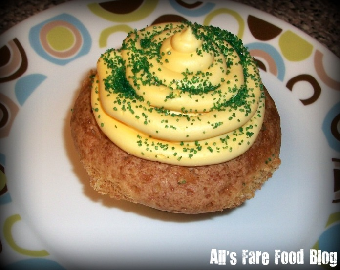 Green and Gold cupcake