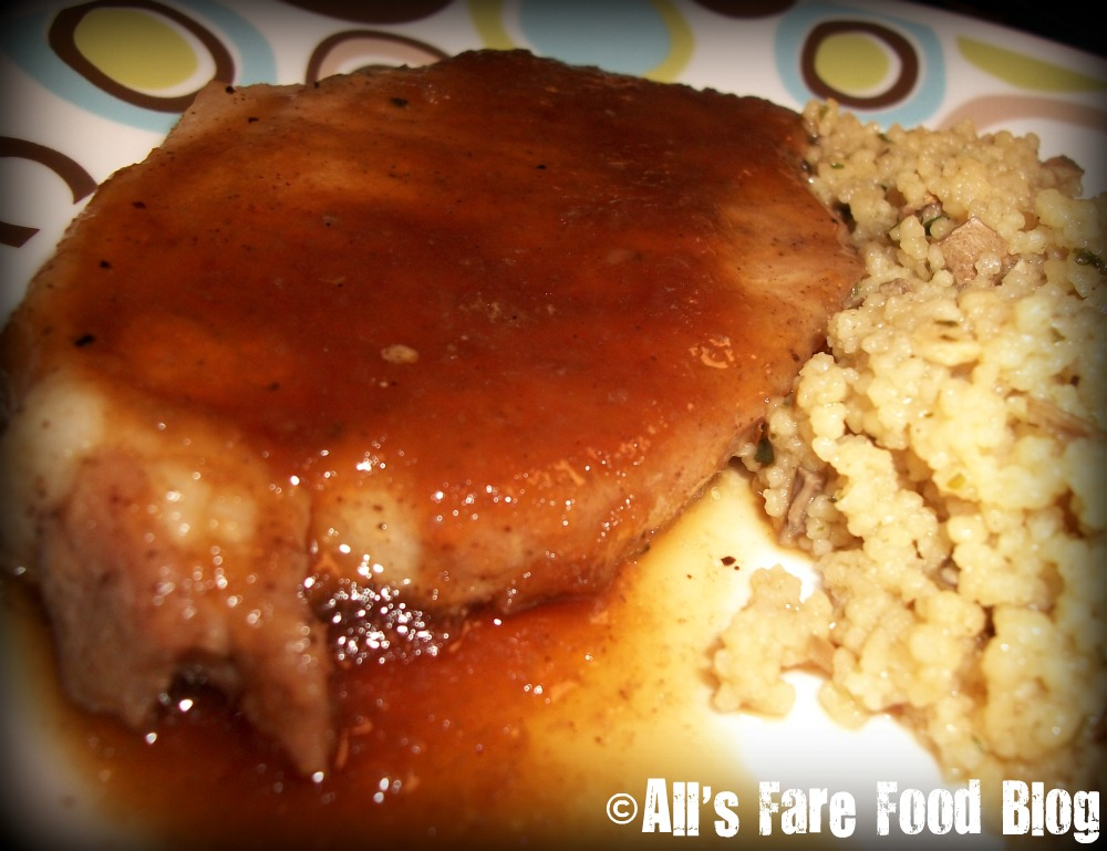 Recipe: Apple Sauce Pork Chops | All's Fare Food Blog