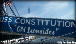 USS Constitution gang plank