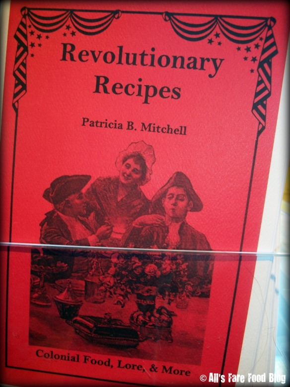 Recipe book at the Constitution Gift Shop