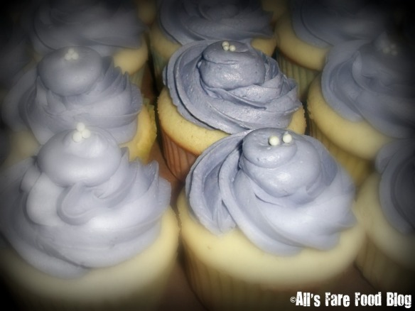 Stacey's lavender cupcakes