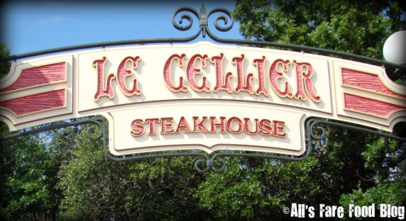 Le Cellier signage at Epcot
