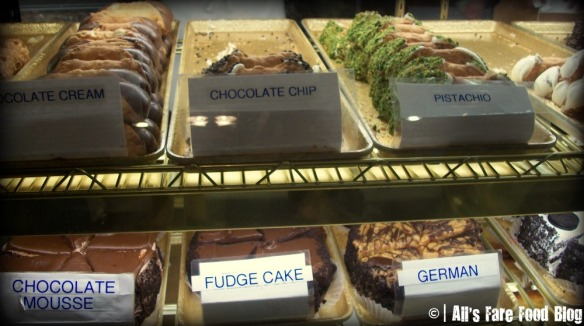 Cannoli choices at Mike's Pastries