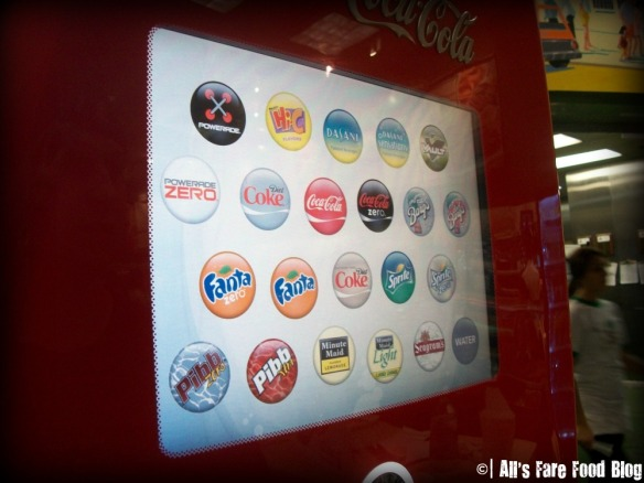 The Display on the Coke Freestyle Machine