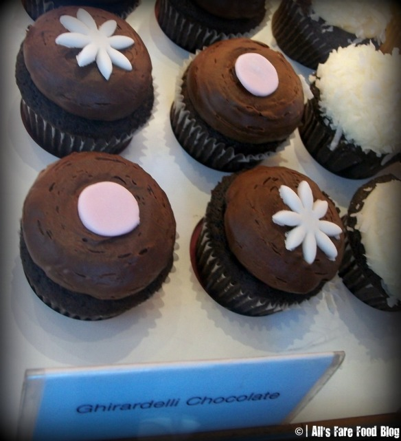 Ghirardelli cupcake at Kara's