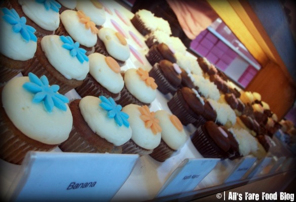 More of the display cases at Kara's Cupcakes