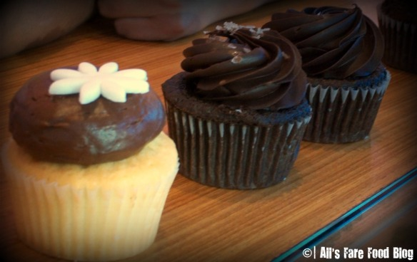 Chocolate cupcakes at Kara's