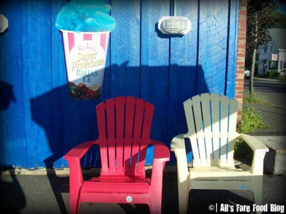 Adirondack chairs at The Scotty Dog in Beverly