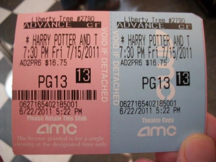 Harry Potter Ticket