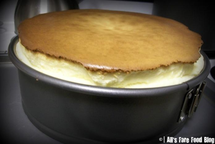 Rising cheesecake