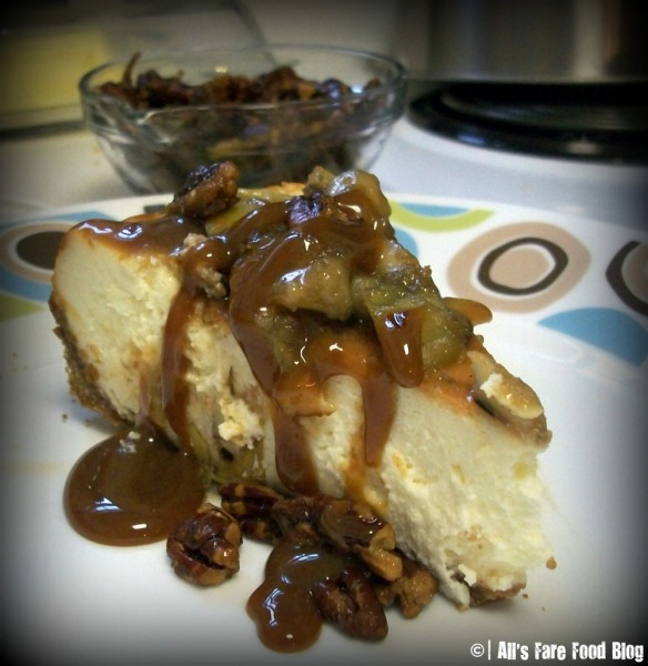Final caramel apple cheesecake
