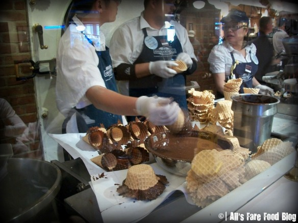 Waffle cones at Ghirardelli