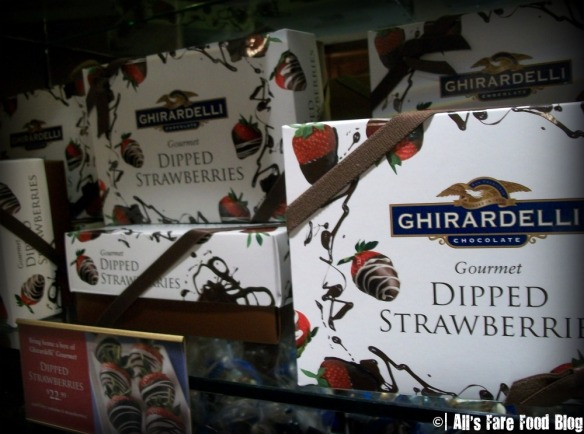 Chocolate covered Strawberries at Ghirardelli