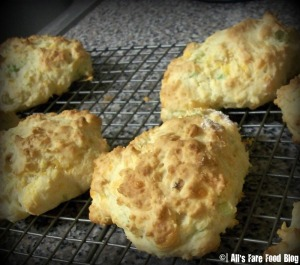 Cheddar and scallion scones