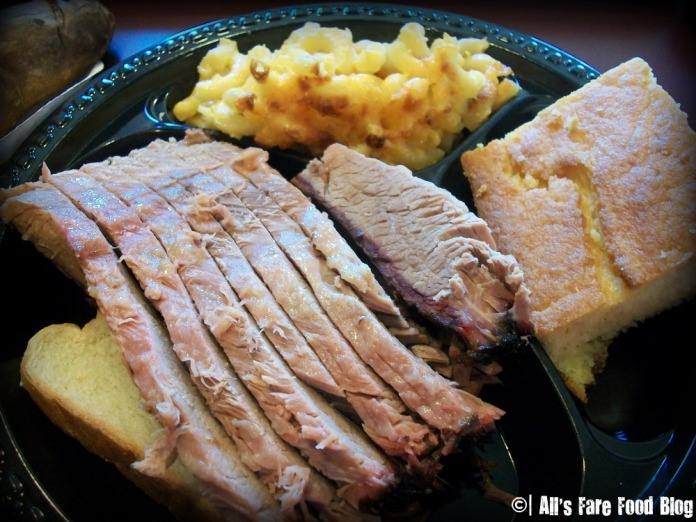Beef brisket at Tennessee's barbecue