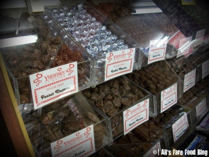 Sugar-free candy options at Yummies