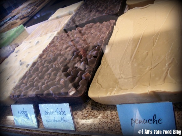 Variety of Fudge at Logan Airport