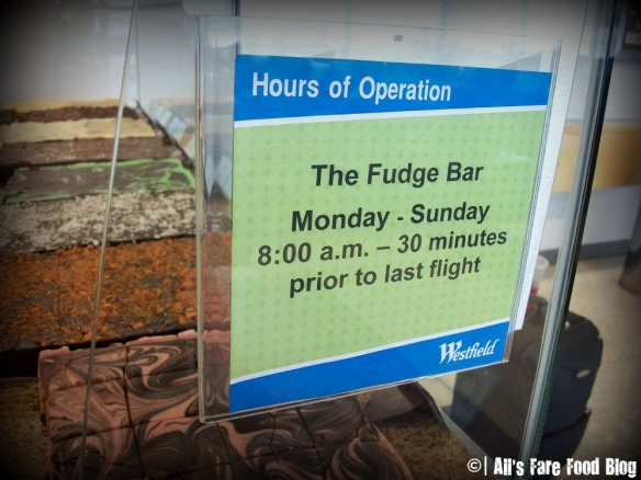 Hours for the Fudge Shop