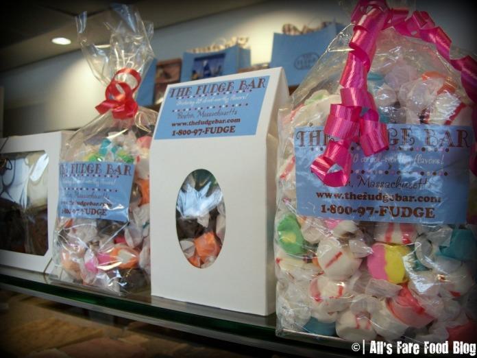 Gift bags at the Fudge Shop