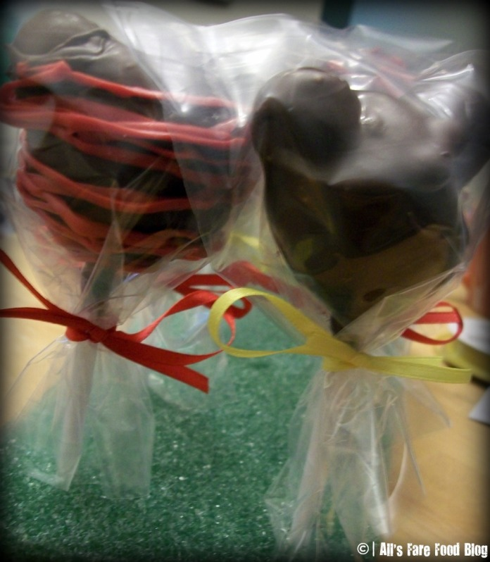 Wrapped Mickey Cake Pops