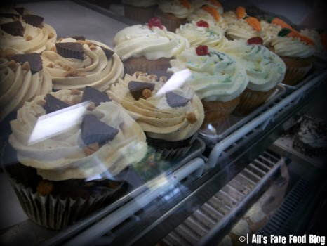 Sweets case at Kane's Donuts