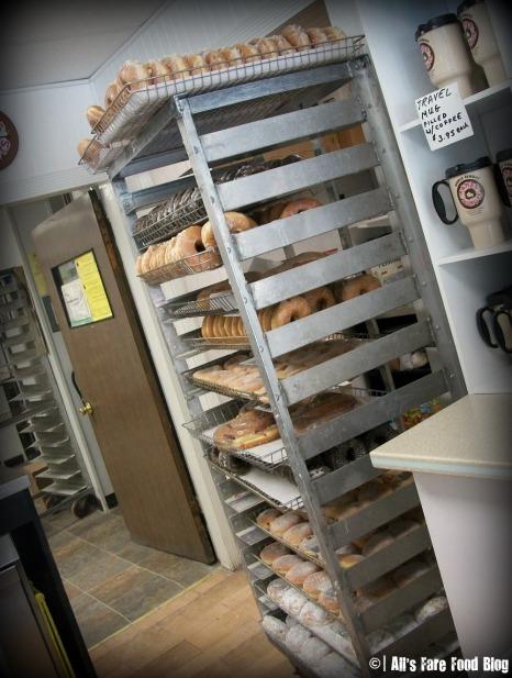 Freshly baked donuts at Kane's Donuts