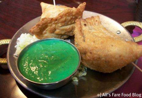 Samosas at Kashmir Indian Restaurant