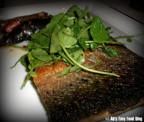 Brown butter salmon at Roy Yamaguchi's