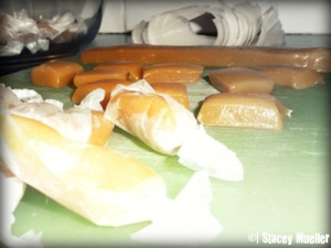 Homemade caramels by Stacey Mueller