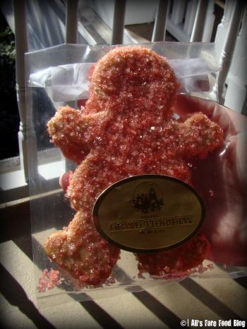 Sugar cookie man covered in sprinkles