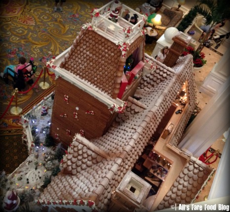 Grand Floridian Gingerbread House from Above
