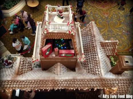 Another shot of the Grand Floridian gingerbread house from above