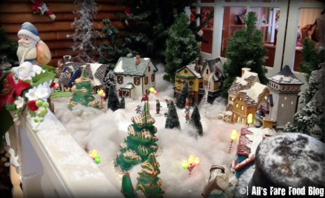 Little Christmas village outside the Gingerbread House
