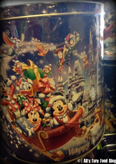 Popcorn tin at the Main Street Confectionary